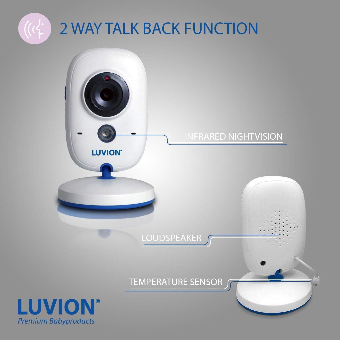 """Babyphone Cam/éra Video Blanc et Blue LUVION EASY 2/"""" /écran"""