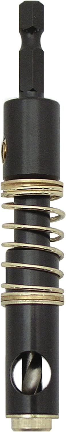 Big Horn 19138 1//4 Inch Self-Centering Bit For Use with Pin Jig Hex Shank
