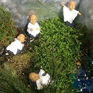 Funshowcase monk zen garden miniature 4 in set white toys games - Zen garten miniatur set ...