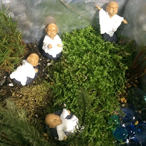 FUNSHOWCASE Monk Zen Garden Miniature 4 in Set, White
