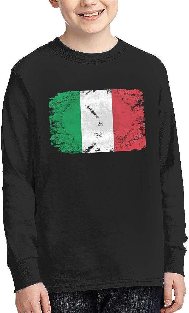 Qiop Nee Italian Flag 1 Long Sleeves Tee for Girl