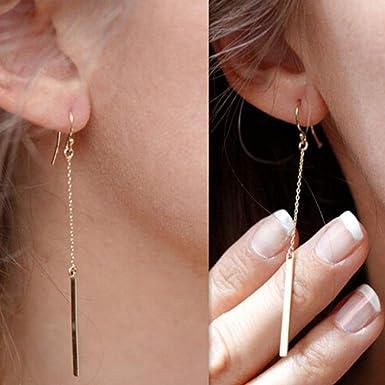 Dangle Simple Women/'s Gift Gold Silver Earrings Ladies Fashion Circle Ear Drop