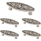 Franklin Brass Brushed Satin Pewter Seaside Cottage Oval Handle Pull, Cabinet Handles and Drawer Pulls for Kitchen Cabinets a