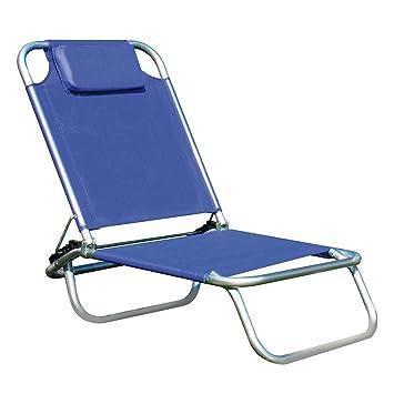 papillon bermuda silla para playa de aluminio color azul