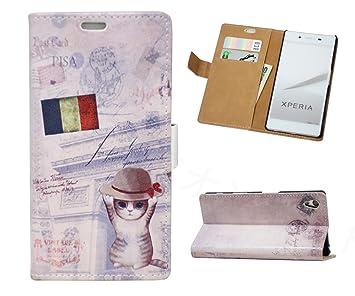 9728d6f524 Amazon | Xperia Z5 Premium ケース SO-03H 手帳型ケース 「かわいい猫 ...