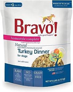 Bravo Homestyle Freeze Dried Dinner Turkey Food, 6 lb