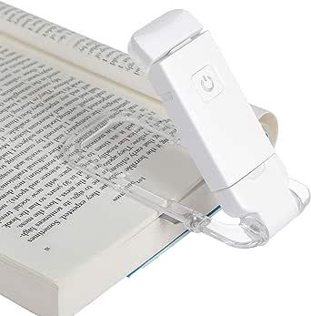 DEWENWILS Luz de lectura de libro recargable USB, blanco