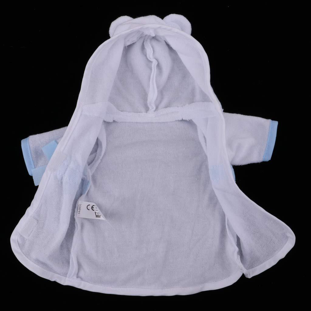 T TOOYFUL Nuovo Vestito con Cappuccio E Accappatoio Bowknot Bianco per Bambole Mellchan da 25cm