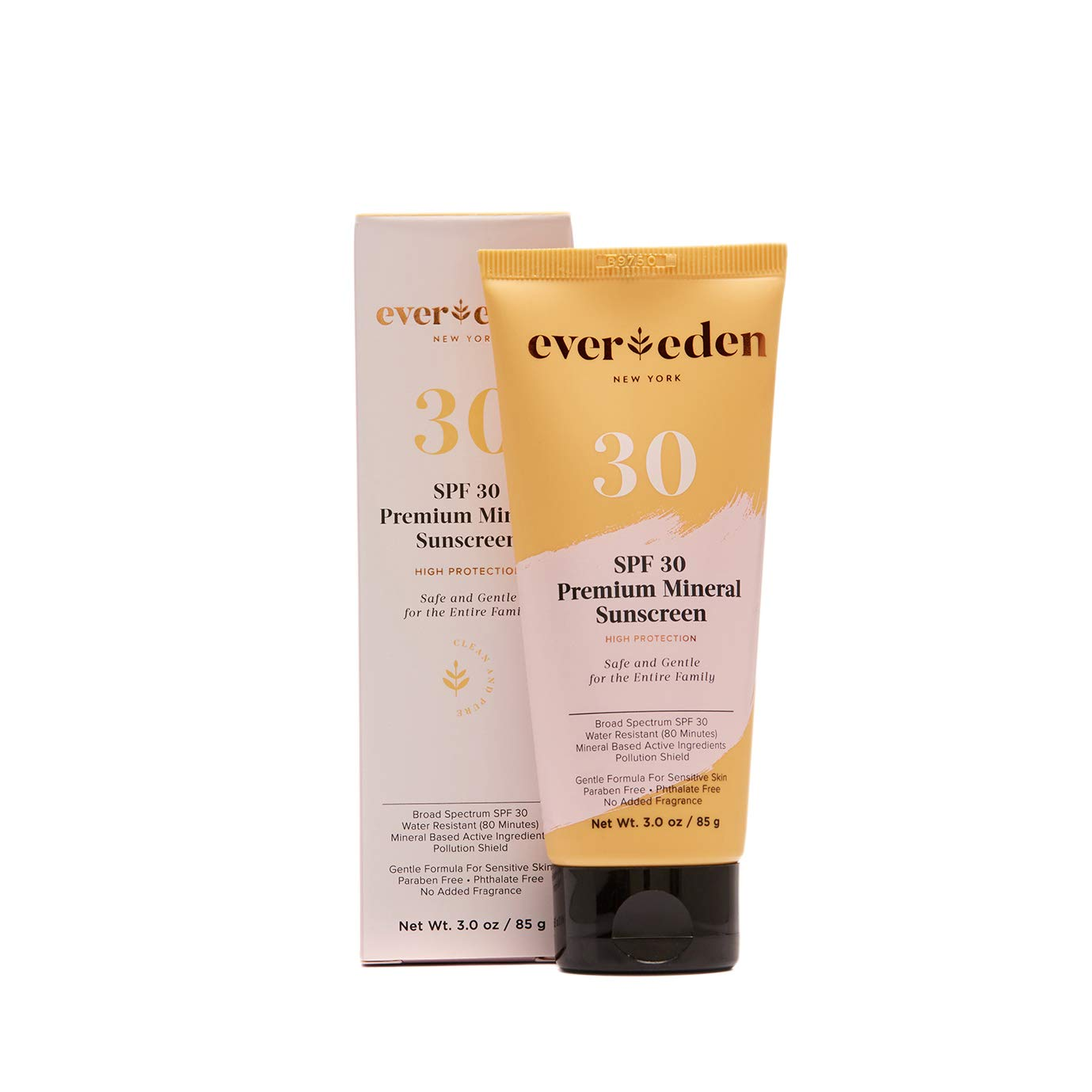 Evereden Mineral Sunscreen - Baby Sun Block for Sun Protection - Natural & Organic Sunscreen with Jojoba Oil by Evereden