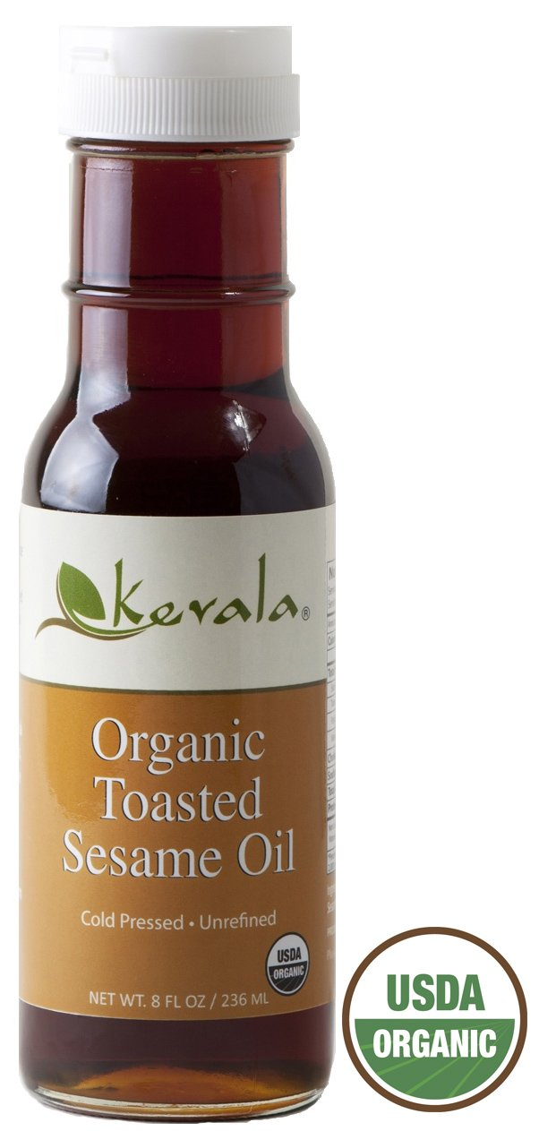 Kevala Organic Toasted Sesame Oil 8oz (Pack of 6) by Kevala
