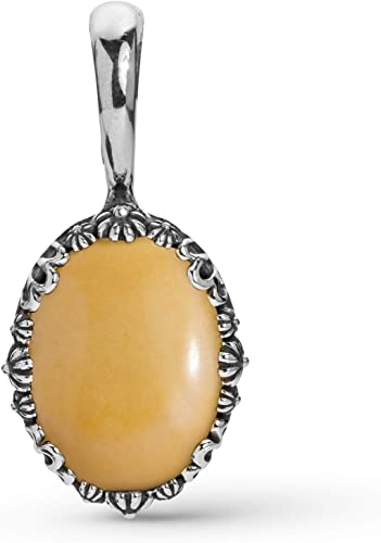 American West Sterling Silver Multi Gemstone Choice of 5 Different Color Naja Pendant Enhancer