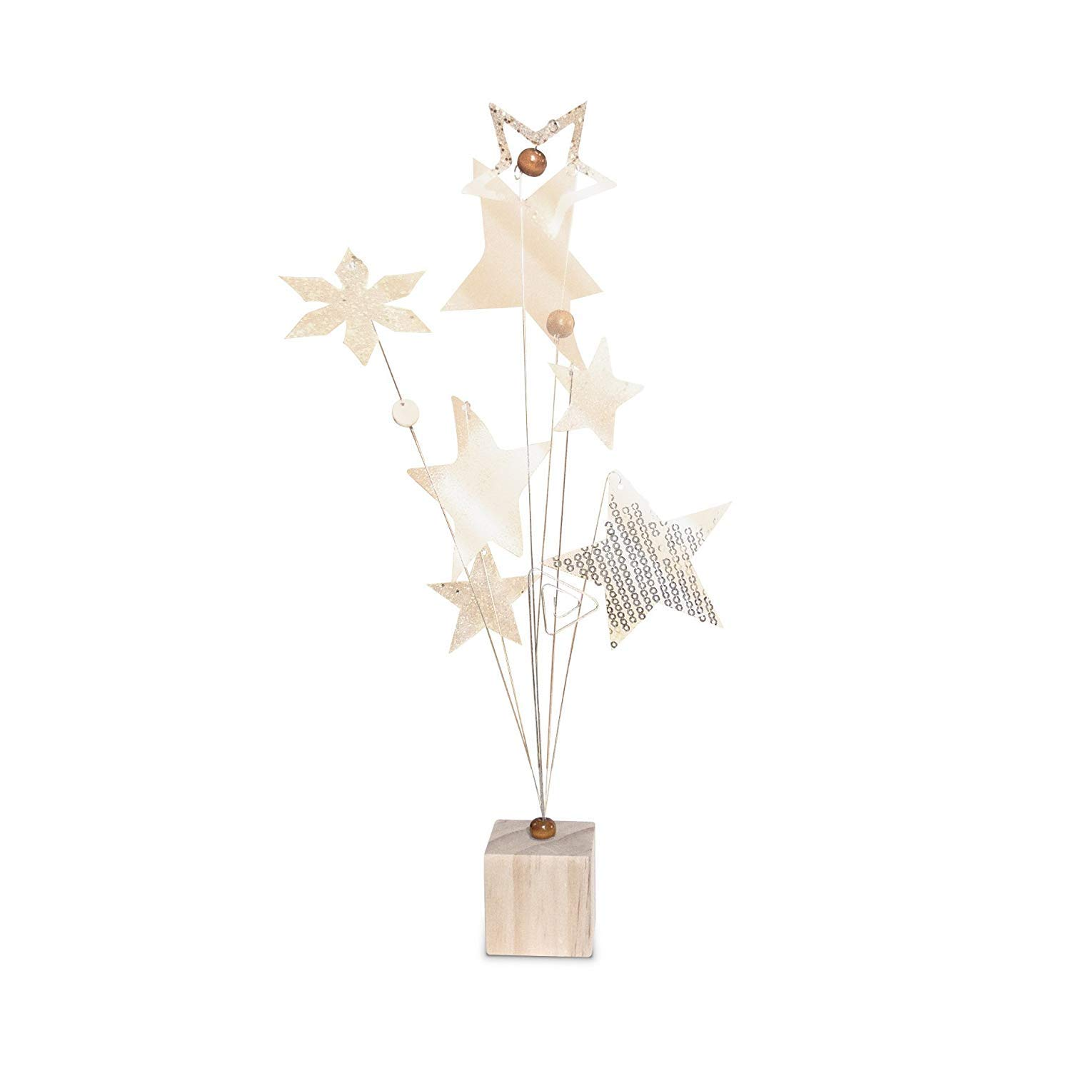 23 Bees | Table Centerpieces for Party | Photo Holder (Rustic Gold Handcrafted Star Design, 6 Pack) | Centerpiece Holders for Tables with Individual Card Number Slots | Dining Room & Kitchen Decor