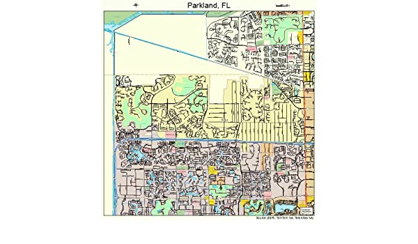 Parkland Florida Map.Amazon Com Large Street Road Map Of Parkland Florida Fl