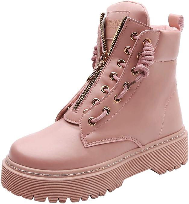 Cargadores de Las señoras de Moda, Martin Botas de Encaje Zapatos Alto Invierno-C Longitud del pie=24.8CM(9.8Inch): Amazon.es: Zapatos y complementos