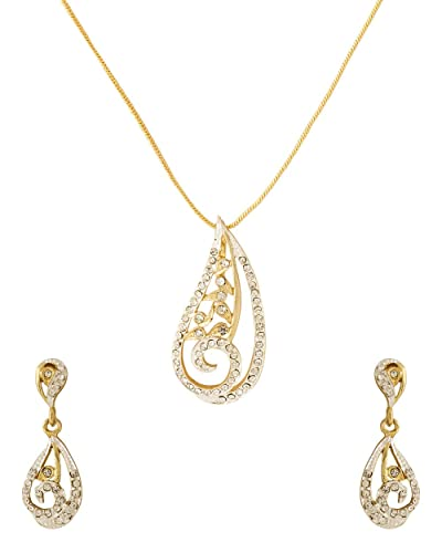 0209460485da1 Buy Voylla Traditional Alloy with Gold Plating Plated Cubic Zirconia Pendant  Sets for Women Online at Low Prices in India