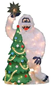 Product Works 32-Inch Pre-Lit Bumble and Christmas Tree Christmas Yard Decoration, 70 Lights