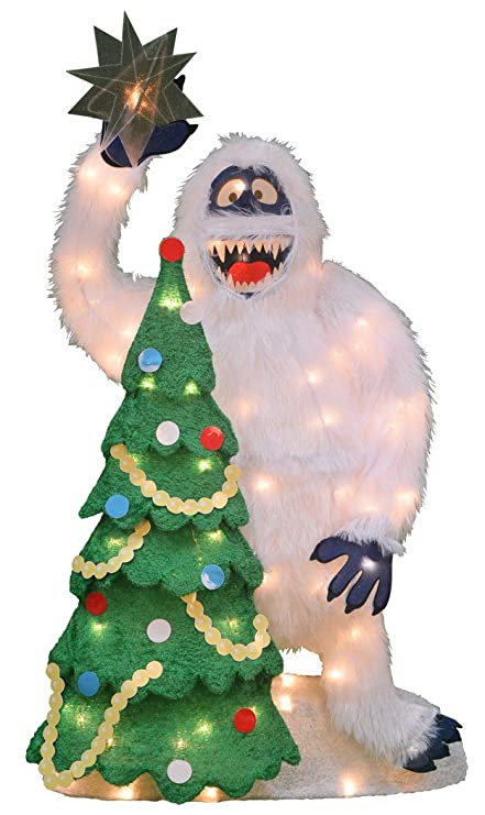product works 32 inch pre lit bumble and christmas tree christmas yard decoration - Pre Lit And Decorated Christmas Trees