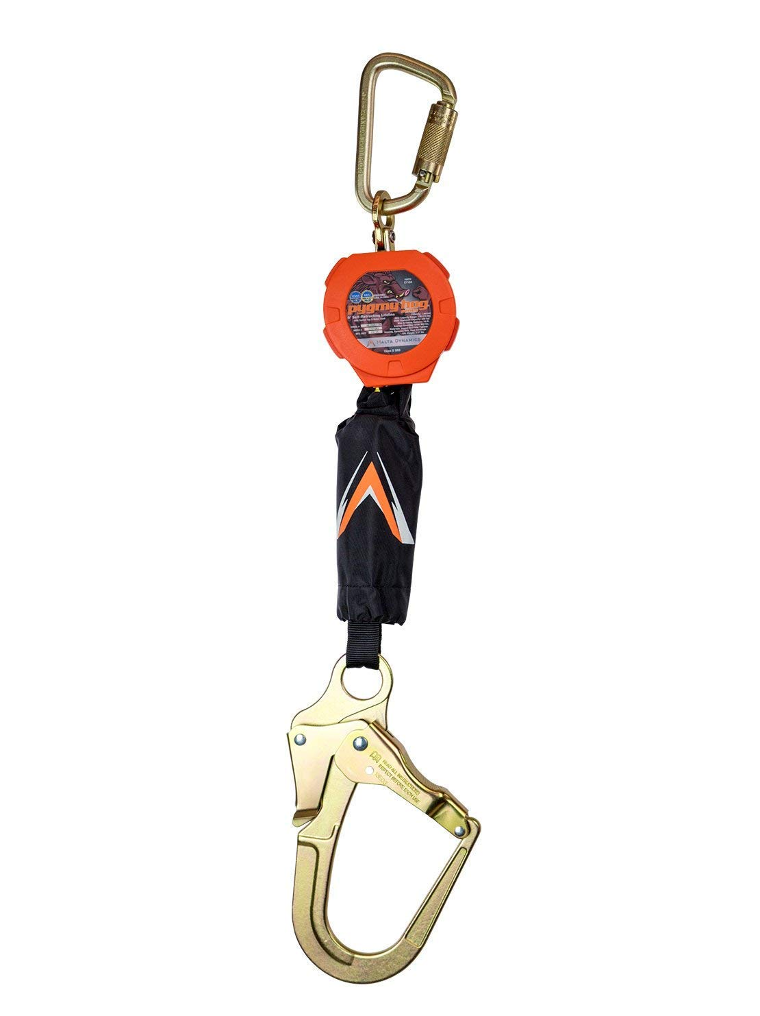 Pygmy Hog 6' Self-Retracting Lifeline with Rebar Hook, OSHA/ANSI Compliant by Malta Dynamics