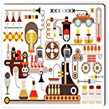 Rikki Knight 8873 Double Toggle Pharmaceutical Medical Factory Illustration Design Light Switch Plate