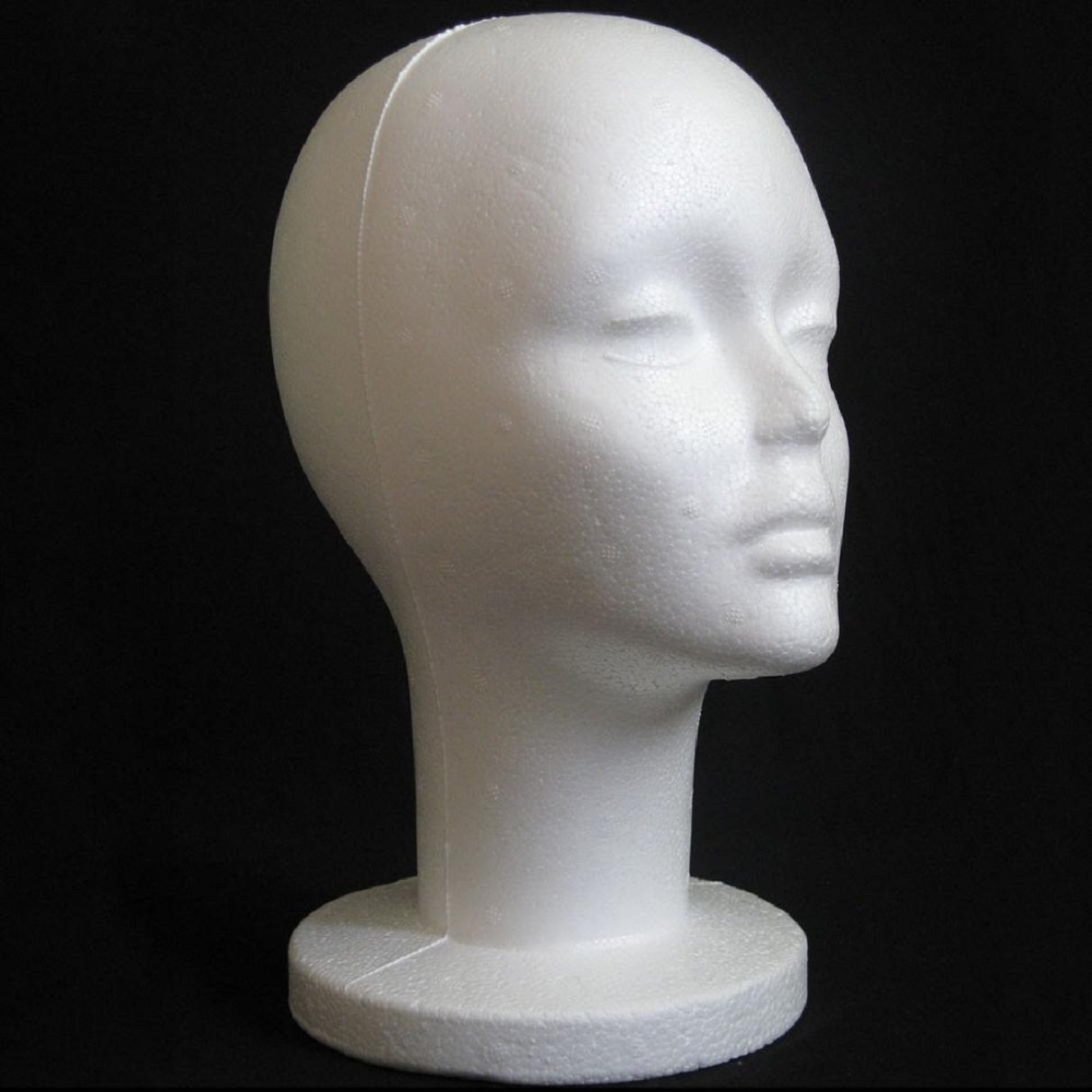 Amazon.com: Lookatool Female Styrofoam Mannequin Manikin Head Model Foam Wig Hair Glasses Display: Beauty