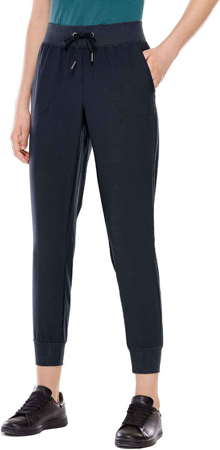 CRZ YOGA Women's Lightweight Joggers Pants with Pockets Drawstring Workout Running Pants with Elastic Waist