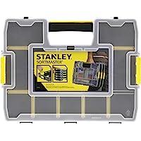 Stanley SortMaster 197483 Stapelbare Gereedschapskist (14 Individueel Verstelbare Vakken voor Kleine Onderdelen en…