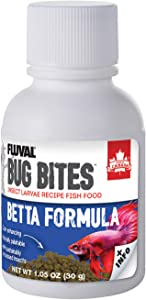 Fluval Bug Bites Betta Fish Food, Granules for Small to Medium Sized Fish, 1.06 oz., A6575, Brown