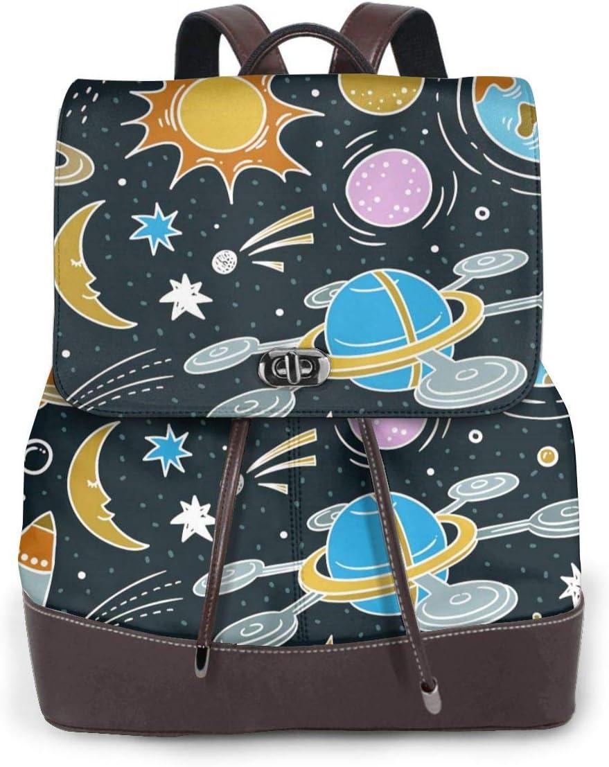 Women PU Leather Fashion Backpack Purse Shark Sea Ocean Fish Blue Travel School Shoulder Bag Girls Ladies Daypack Handbags