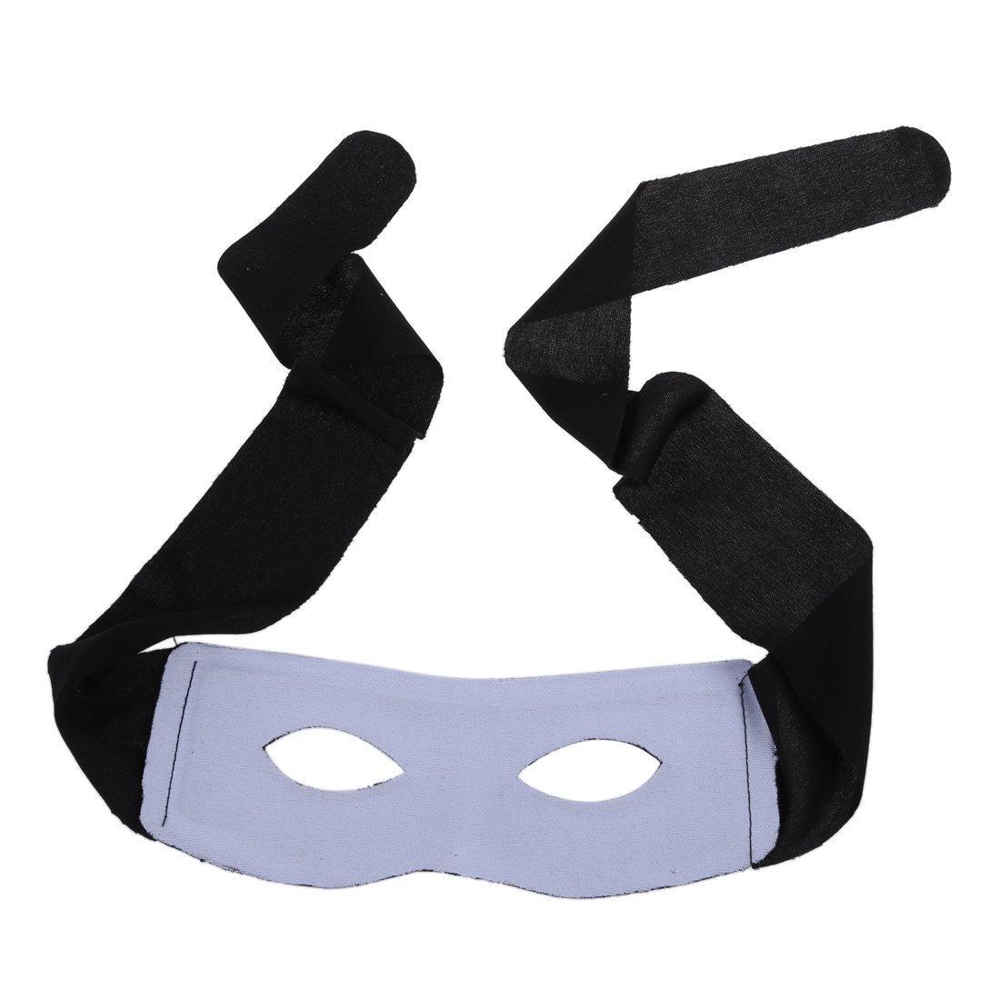 Bandito Zorro Maschera Occhi BRIGANTE Nero Costume
