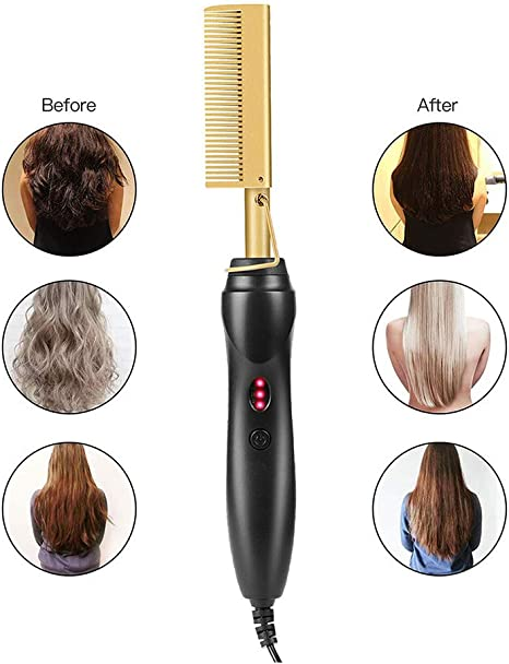 YWJH Hot Comb Wet And Dry Hair Use Hair Curling Iron