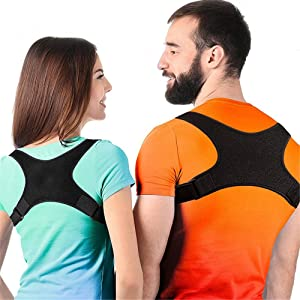 Posture Corrector Posture Corrector For Women & Men-Best Fully Adjustable Back Brace-Comfortable Posture Support For Back Neck And Shoulder Relief Physical Therapy Posture Brace for Men Women and Kids