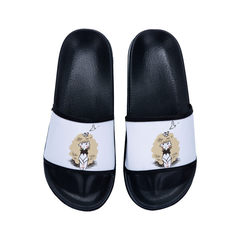 Ron Kite Girls Casual Beach Wear Flip Flops Indoor Floor Slipper Anti-Slip Bath Slippers
