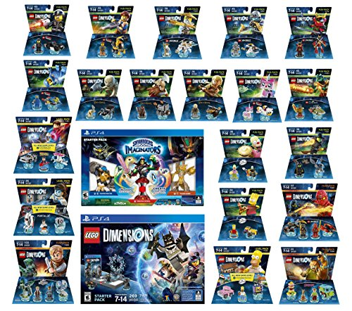 Skylanders Imaginators Starter Pack + Lego Dimensions Starter Pack + The Simpsons Homer + Scooby Doo + Portal 2 + Jurassic World + Back To The Future + 14 Fun Packs Playstation 4 or PS4 Pro Console by WB Lego