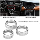 KIMISS 3Pcs Car Zinc Alloy Air Condition Knob