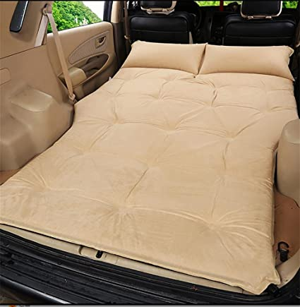 POTA R&R Car Outdoor Travel Bed Airbed Mattress Rear SUV car, Beige Suede 5cm