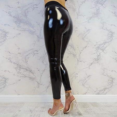 SHOBDW Moda 2020 Mujeres Dama elástica Brillante Cintura Alta Gimnasio Deporte Correr Fitness Leggings Medias Pantalones de Entrenamiento Pantalones de Yoga Pantalones Deportivos
