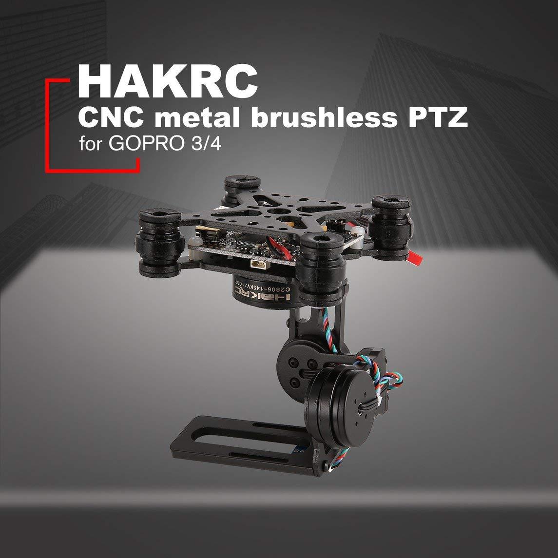 Footprintse HAKRC 3-Achsen Brushless PTZ Control Control Control Panel Gimbal für Drone Gopro3 / 4 DJI Phantom-Farbe: Schwarz c71ff4