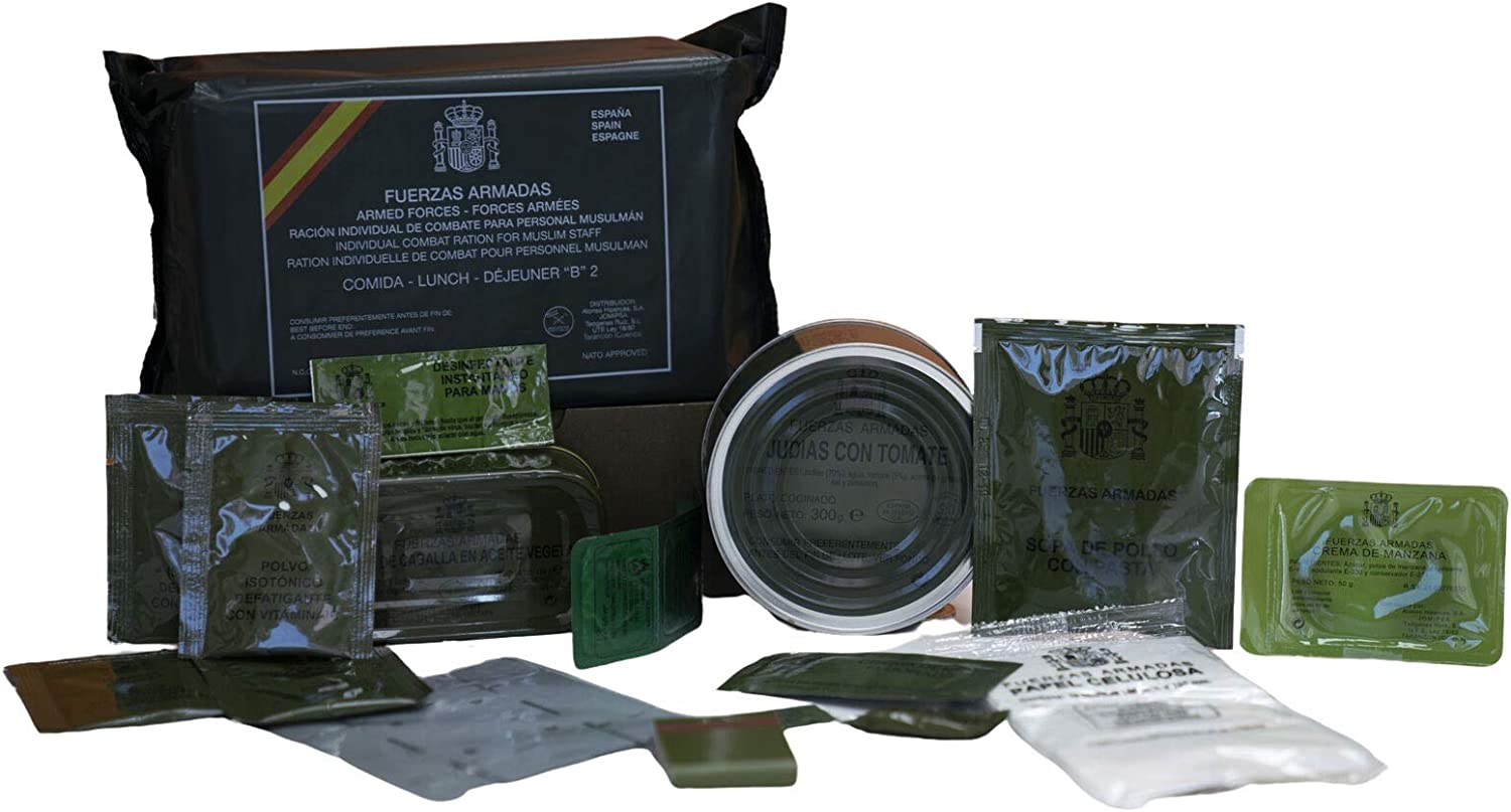 Spanish MRE Army Ration Meal Ready To Eat Emergency Food Supplies Genuine Military (B5)