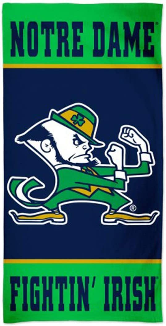 Multi Color WinCraft NCAA Notre Dame Fighting Irish Notre Dame Fighting Irish Spectra Beach Towel 30 x 60 na
