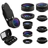 Camera Lens Kit 9 in 1 Zoom Telephoto Lens + Fisheye lens + 0.36 Super Wide Angle Lens + 20X Macro Lens + CPL + Kaleidoscope Lens + 0.63X Wide Lens + 15X Macro Lens + Starburst Lens