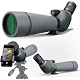 Gosky 20-60x80 Dual Focusing ED Spotting Scope - Ultra High Definition Optics Scope with Carrying Case and Smartphone Adapter