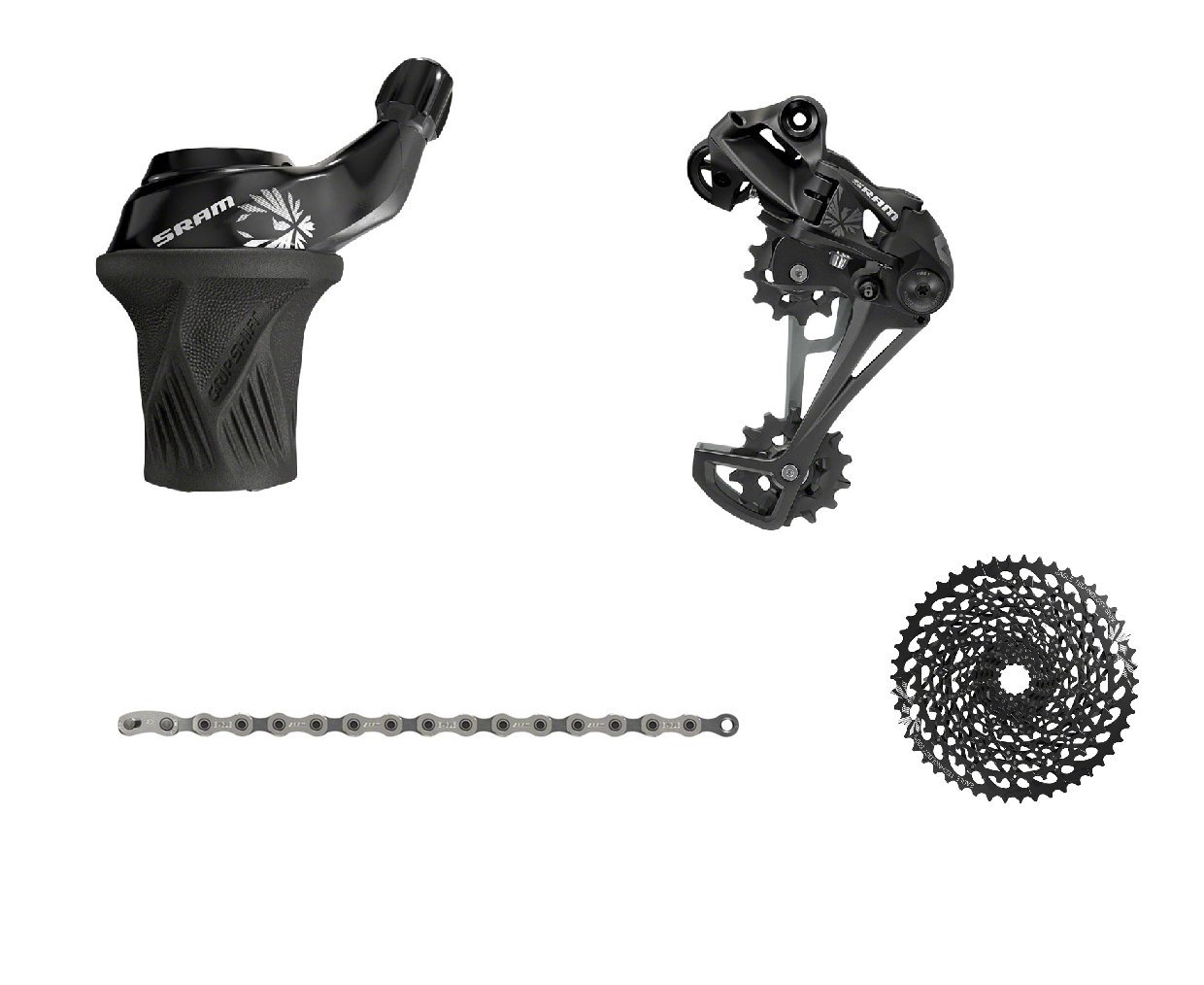 SRAM GX Eagle Gripshift 4-Piece Groupset Without Crankset