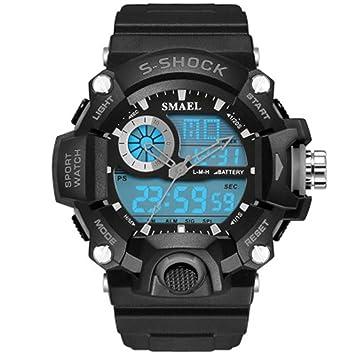 ZXZ-GO Relojes Reloj Multifuncional de Alpinismo Multifuncional Deportivo para Hombre con Calendario LED Reloj Deportivo para Adolescentes, Gray: Amazon.es: ...