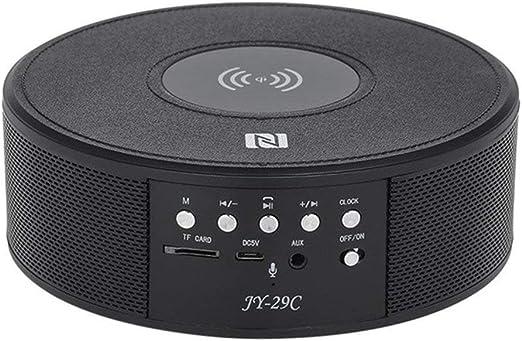 Tech Código Portable Bluetooth Altavoz Qi Wireless cargador de viaje/ exterior/Sport/Auto Wireless Speaker sonido estéreo Altavoz, JY29C-Schwarz: Amazon.es: Jardín