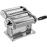 Marcato Atlas Pasta Machine, Stainless Steel, Silver, Includes Pasta Cutter, Hand Crank and Instruction (8320) 150 mm