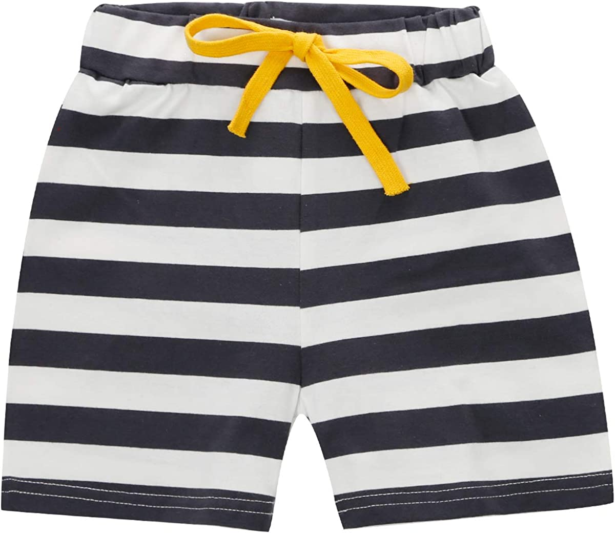 Shorts 2pcs 1-6 Years CARETOO Baby Boy Polo Shirt Top Cotton Striped Short Sleeve T-Shirt