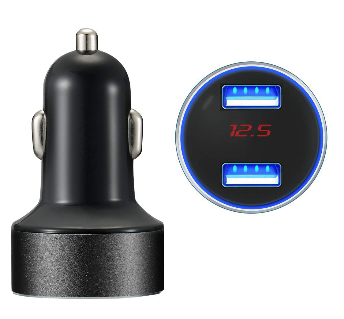 Samsung Galaxy Note8//S8//S8+ and More NEWRED CIGMBSQ iPad Pro//Air 2//Mini Car Charger MOLJILA 4.8A 24W Dual USB Fast Car Charger with Smart Identification for iPhone X//8//7//Plus