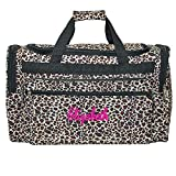 Personalized Leopard Print Duffle Bag 22 Inch