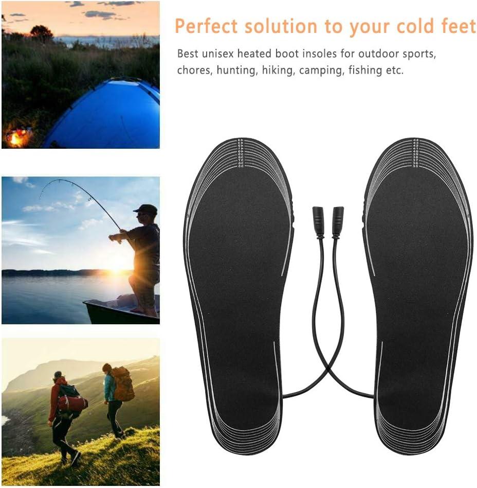 plantillas de zapatos calefactables recargables plantilla de fibra el/éctrica que calienta la bater/ía plantilla de tama/ño ajustable que contiene caja de bater/ía de 4.5v Plantilla el/éctrica de fibra