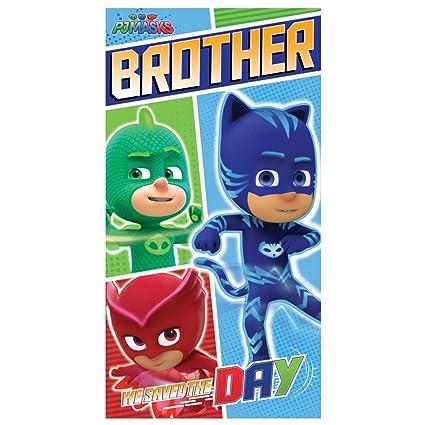 PJ Masks, tarjeta de felicitación de cumpleaños para hermano ...